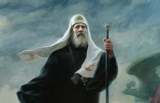 Patriarch Tikhon. Fragment of a painting by Constantine and Natalia Miroshnik