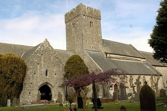 St. Illtud's Church in Llantwit Major, Vale of Glamorgan