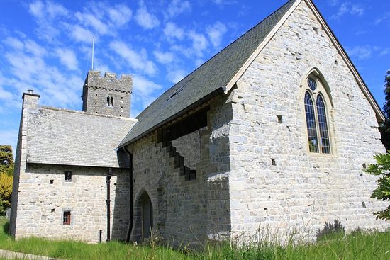 The restored Galilee Chapel in Llantwit Major