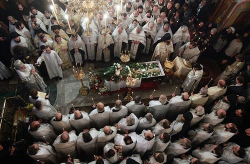The funeral of Fr. Daniel Sysoev