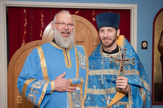 Fr. Timothy with Dcn. Seraphim Reynolds at Holy Apostles Orthodox Mission in Mechanicsburg, PA