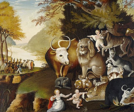 Edward Hicks. The Peaceable Kingdom. 1833