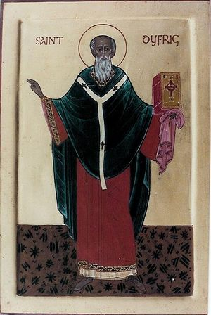 An icon of St. Dyfrig (Dubricius)