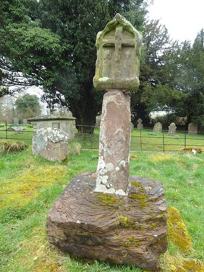 Ancient cross in Hentland, Herefordshire