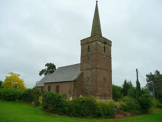 Saxon Church of St. Dyfrig (Dubricius) in Ballingham, Herefs