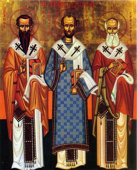 St. Basil the Great, St. John Chrysostom, and St. Gregory the Theologian