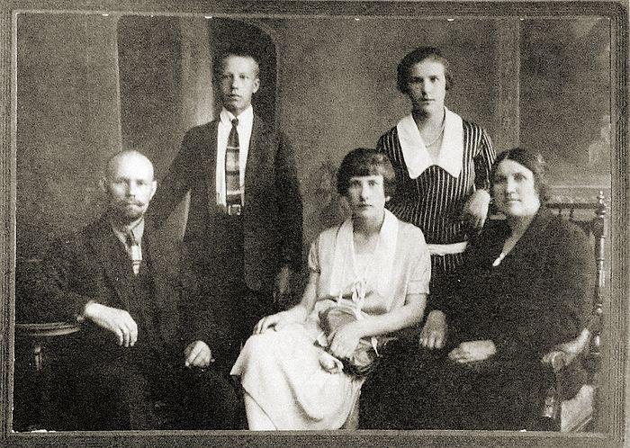 Семья Бордюковых, 1928 год