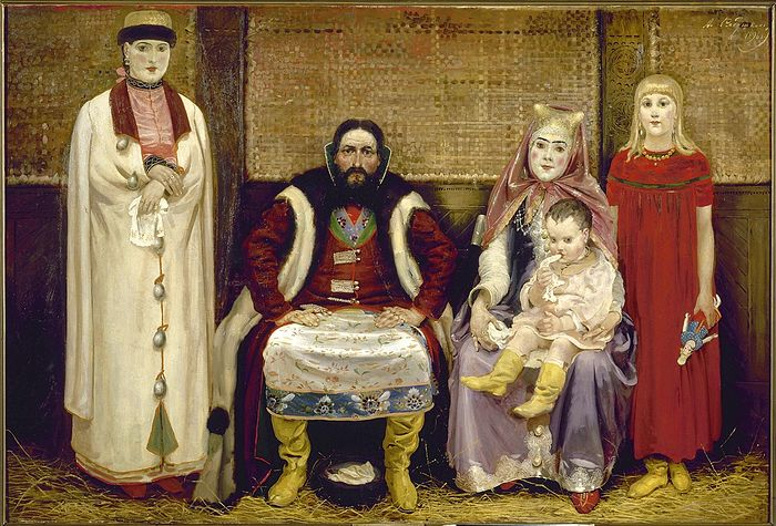 Андрей Рябушкин. Семья купца в XVII веке. 1896 г.
