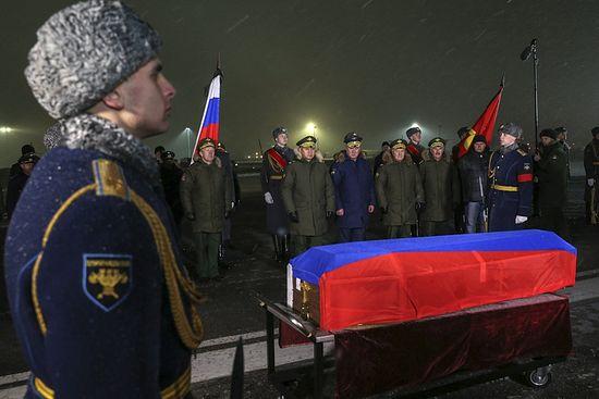 Церемония встречи тела героя России Олега Пешкова. Фото:Минобороны РФ