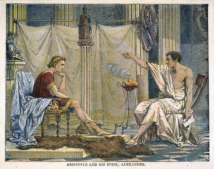 Аристотель учит Александра Македонского