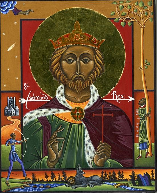 Icon of St. Edmund, with Life.
