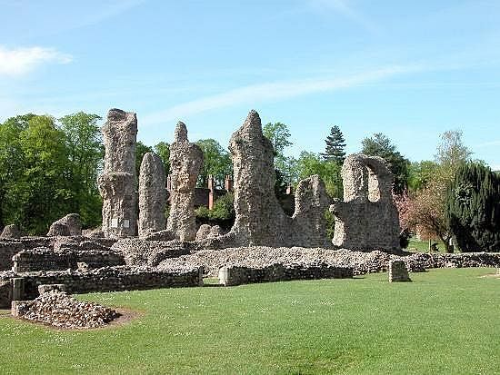 Bury St. Edmunds Abbey ruins, Suffolk
