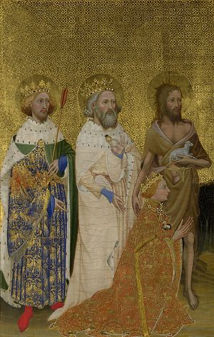 The Wilton Diptych. 14th c.
