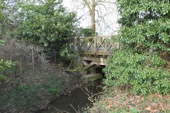 Goldbrook bridge in Hoxne, Suffolk.