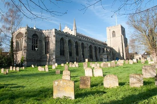 St. Mary's Church in Bury St. Edmunds, Suffolk. Photo Britain Express.