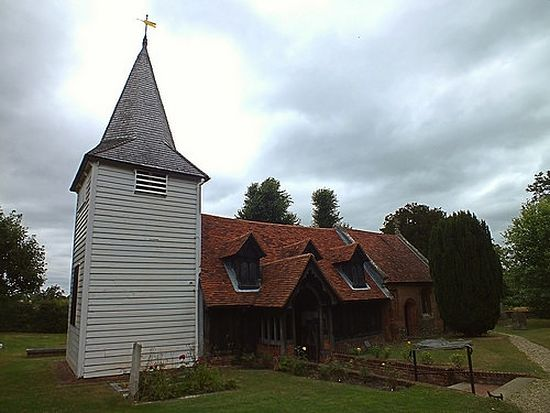 St. Andrew's early English Church in Greensted-juxta-Ongar, Essex.