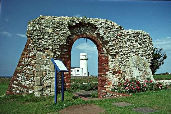 Ruins of St. Edmund's Chapel (13th c.) in Hunstanton, Norfolk.