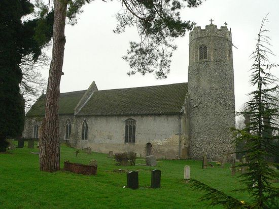 Early English Church of St. Edmund in Taverham, Norfolk.