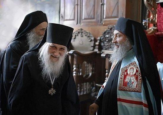 Схиархимандрит Иеремия (Алехин) и Митрополит Онуфрий на Афоне в Пантелеимоновом монастыре
