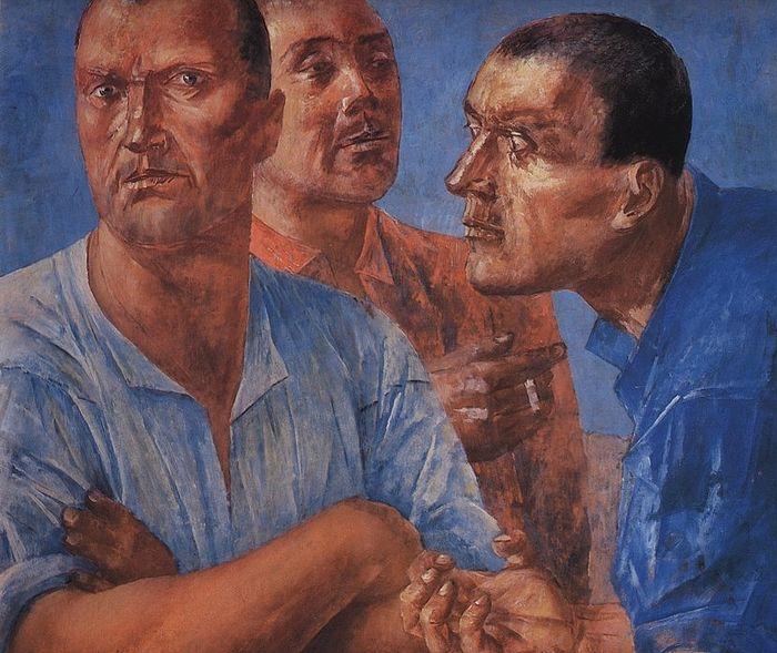 К.С. Петров-Водкин. Рабочие. 1926