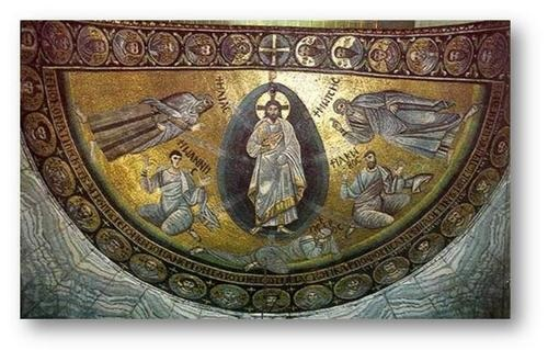 "Recently restored to brilliance by a massive restoration funded by the Emir of Qatar, the Sinai mosaic of the Transfiguration of Christ was described by Kurt Weitzmann as ""a vision of Heaven in the wilderness of Moses.""[2]"