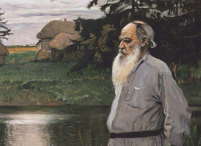 М.В.Нестеров. Портрет Л.Н.Толстого. 1907. Хост. Масло