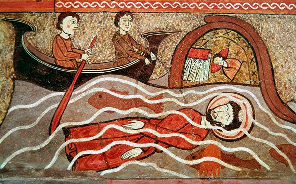 Священномученик Климент Римский. Испанская фреска