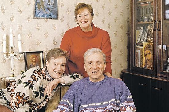 Евгений Стеблов, его жена Татьяна (1945-2010) и их сын