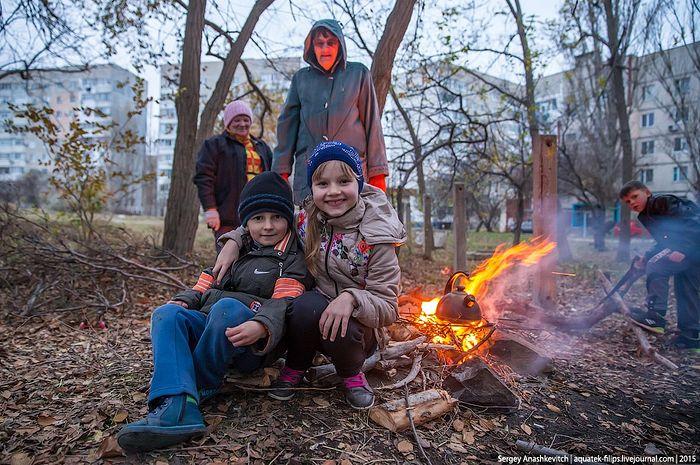 Шелкино (Крым) без света. Фото: С. Анашкевич
