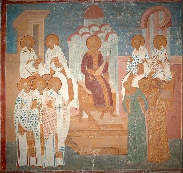 V Вселенский Собор. Фреска Дионисия