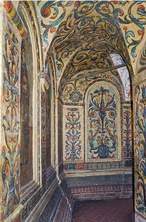 Внутренняя роспись собора Покрова Пресвятой Богородицы на Рву. Фото: Уильям Брумфилд