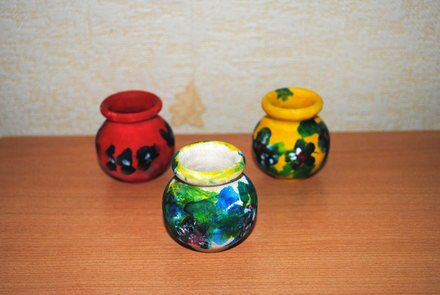 Кувшины Ревекки (Роспись деревянных кувшинчиков: готовые кувшинчики, акриловые краски)