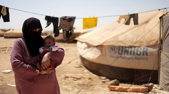 Syrian refugees at Zaatari Refugee Camp in Mafraq, Jordan, in early September