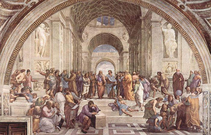 Рафаэль Санти. Афинская школа. 1511