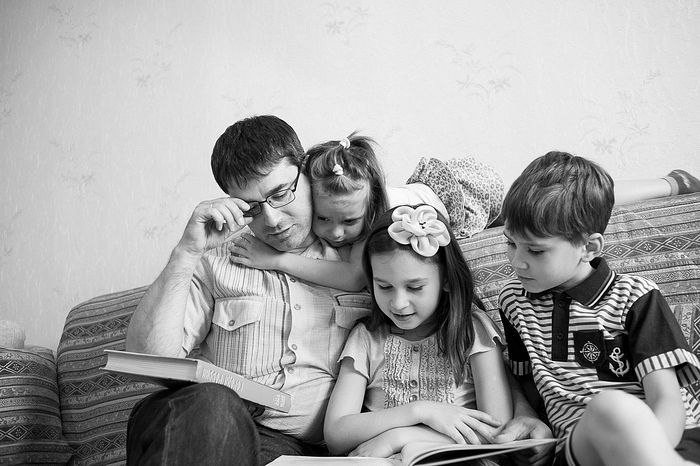 Аким Королёв с детьми
