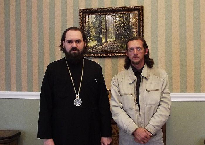 С архиепископом Феофилактом