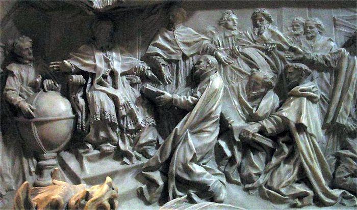 Введение григорианского календаря. Барельеф на могиле папы Григория XIII в Соборе Святого Петра в Риме
