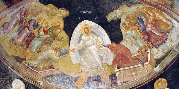 Resurrection of Christ. Fresco from the monastery of Chora.