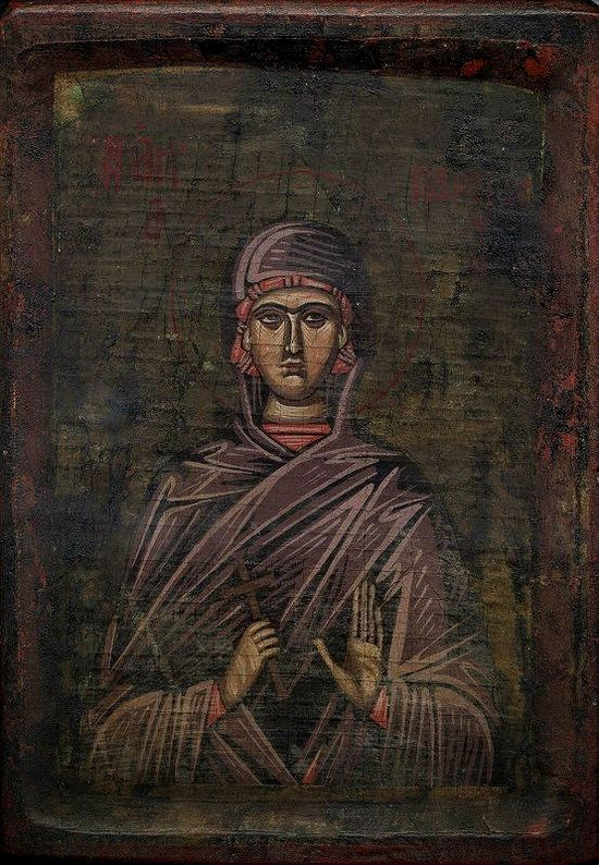 Икона святой мученицы Параскевы Пятницы, подаренная афонским подвижником