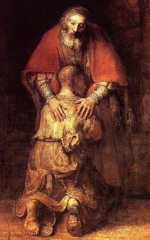 Рембрандт Харменс ван Рейн. Возвращение блудного сына, 1669 г. Фрагмент картины
