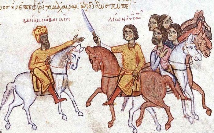 Император Василий I и его сын Лев VI
