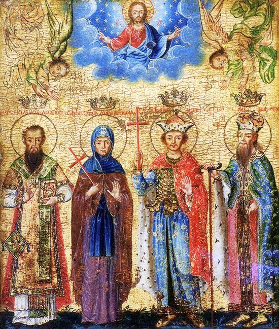 Свети Бранковиhи, икона 1753 г. Никола Нешковиh