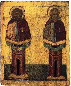 Преподобные Симеон и Даниил Столпники