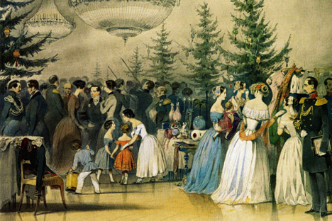 Christmas tree in the Anichkov Palace. Source: Alexey Chernyshov