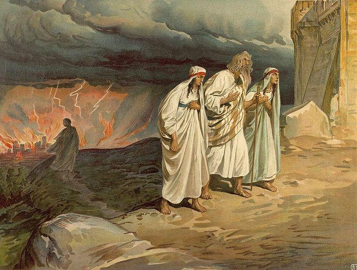 Исход Лота с дочерьми из Содома