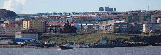 Панорама Анадыря. Аныдырский лиман