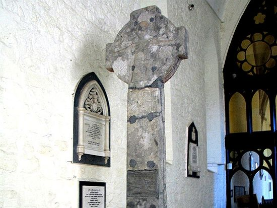 'High' cross inside Killaloe Cathedral