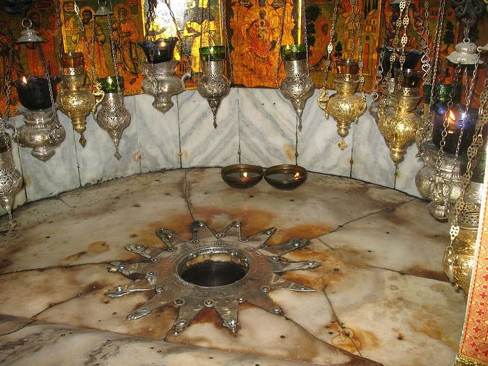 The place of Jesus's birth, Church of the Nativity, Bethlehem.