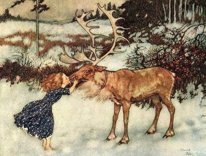 Иллюстрация к сказке «Снежная королева». Художник Эдмунд Дюлак