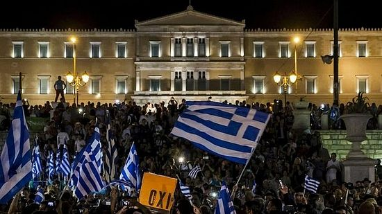 """OXI"" (""No""): the European creditors referendum vote results."
